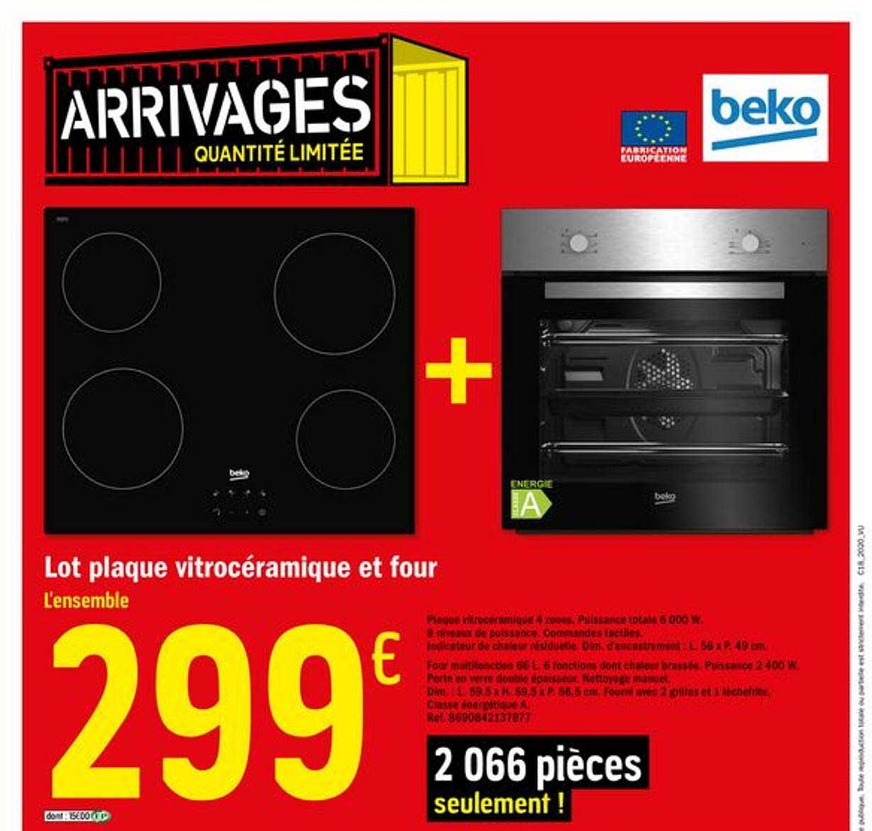 Brico Dépôt Lot Plaque Vitrocéramique Et Four Beko