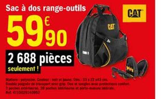 Offre Sac A Dos 0range Outils Cat Chez Brico Depot