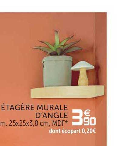 Offre Etagere Murale D Angle Chez Gifi