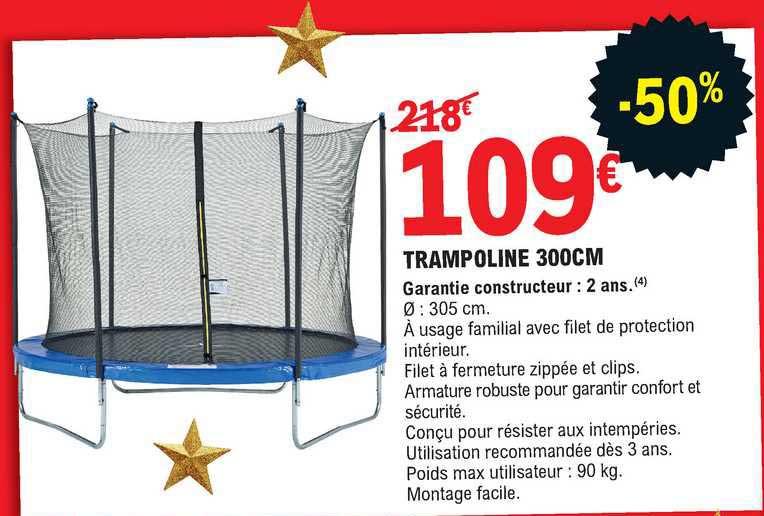 E.Leclerc Trampoline 300 Cm