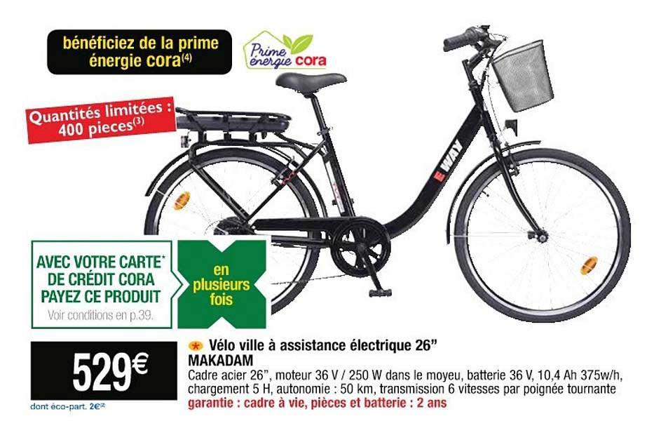 Cora Vélo Ville à Assistance électrique 26