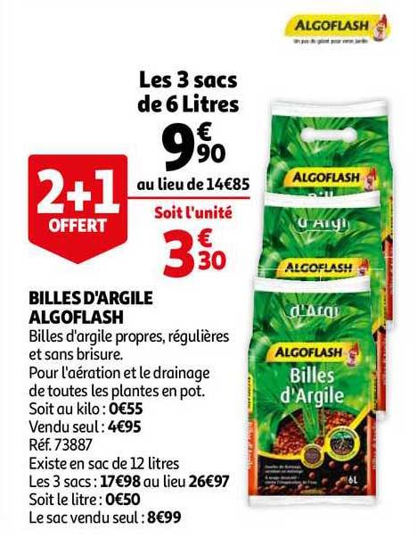 Auchan Billes D'argile Algoflash