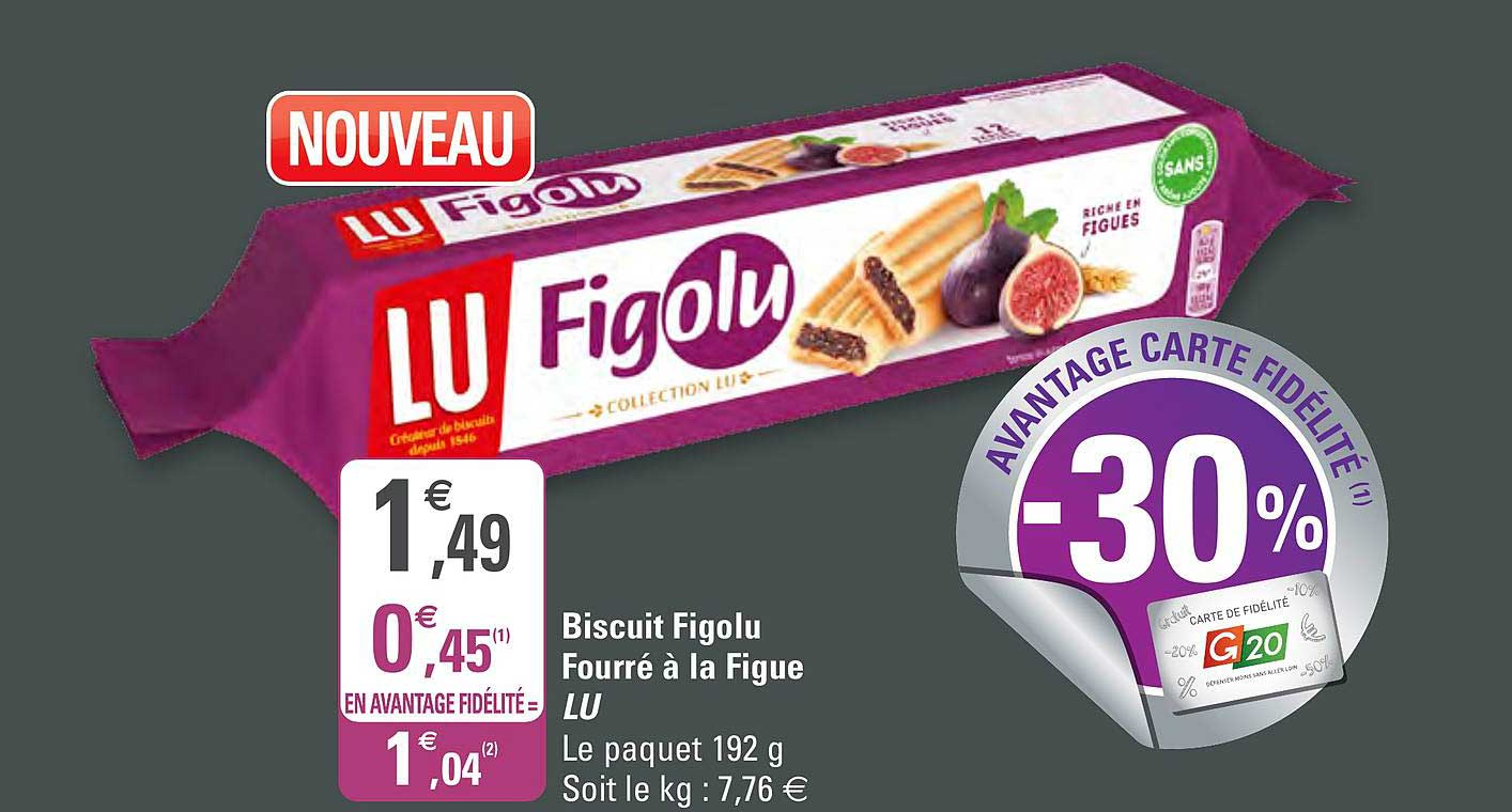 G20 Biscuit Figolu Fourré à La Figue Lu