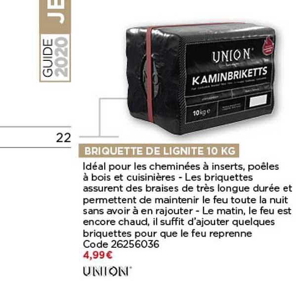 Bricomarché Briquette De Lignite 10 Kg Union