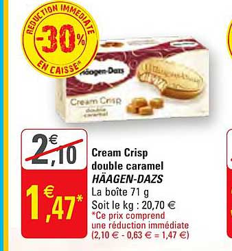 G20 Cream Crisp Double Caramel Häagen Dazs -30% Réduction Immédiate