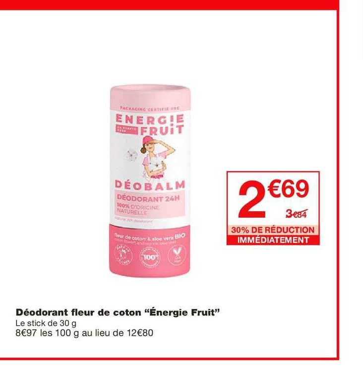 Monoprix Déodorant Fleur De Coton énergie Fruit 30% De Réduction Immédiatement