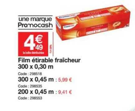 Promocash Film étirable Fraîcheur 300 X 0.30 M