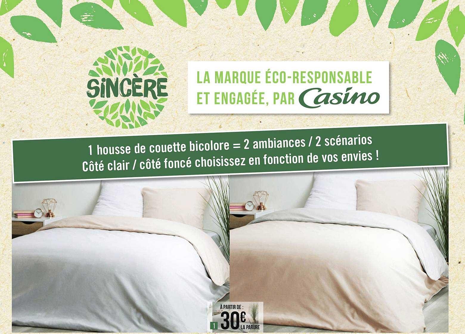 Géant Casino Housse De Couette Bicolore Sincère