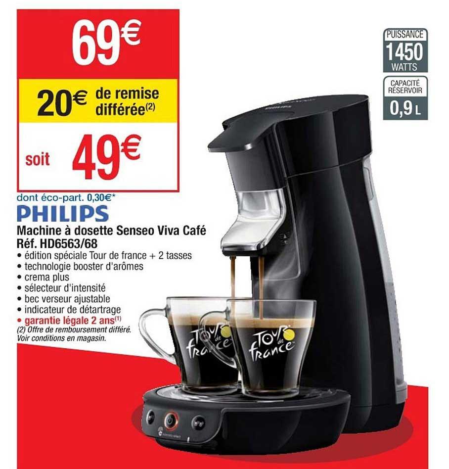 Cora Machine à Dosette Senseo Viva Café Réf. Hd6563 68 Philips