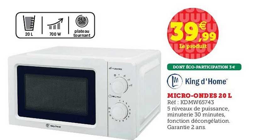 Hyper U Micro Ondes 20 L King D'home