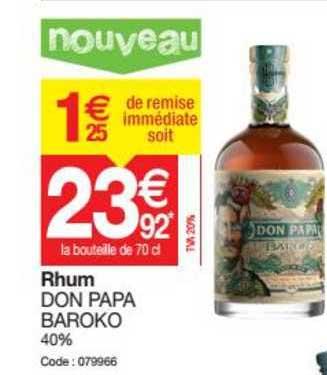 Promocash Rhum Don Papa Baroko