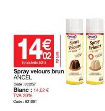 Promocash Spray Velours Brun Ancel