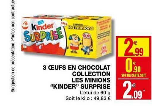 Coccinelle Express 3 œufs En Chocolat Collection Les Minions Kinder Surprise