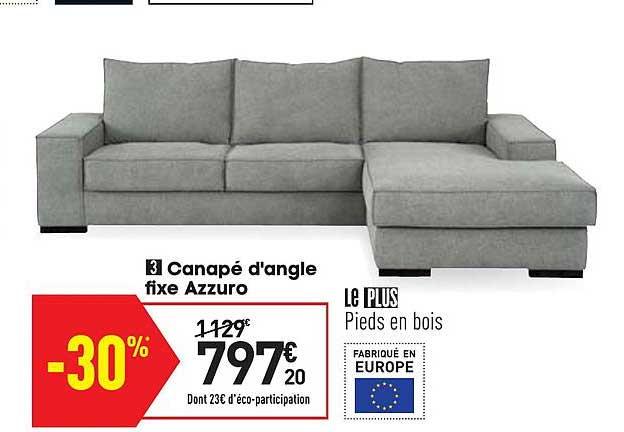 Conforama Canapé D'angle Fixe Azzuro