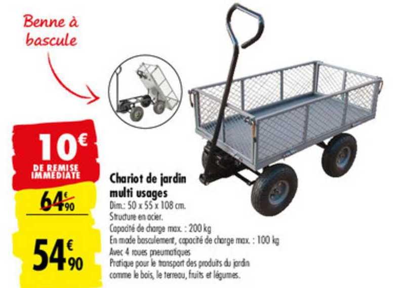 Carrefour Market Chariot De Jardin Multi Usages