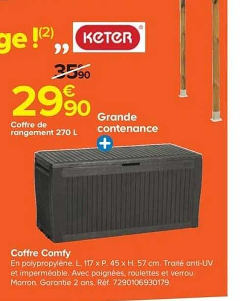 Offre Coffre Comfy Chez Castorama