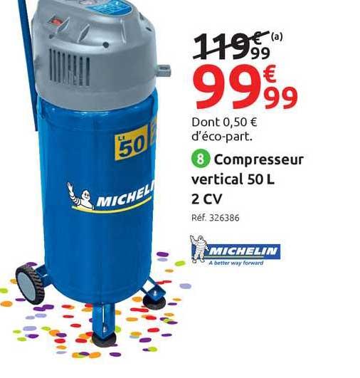 Mr Bricolage Compresseur Vertical 50 L 2 Cv Michelin