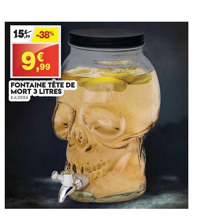Maxi Bazar Fontaine Tête De Mort 3 Litres