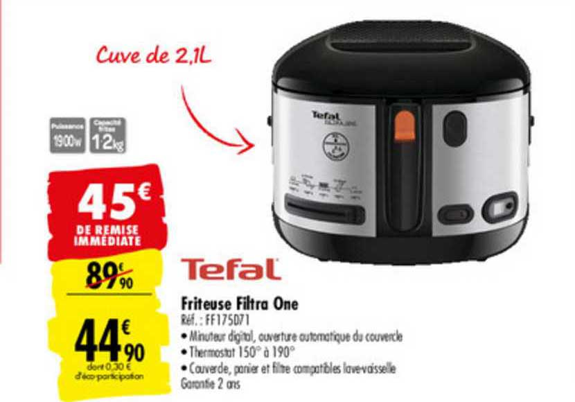 Carrefour Market Friteuse Filtra One Tefal