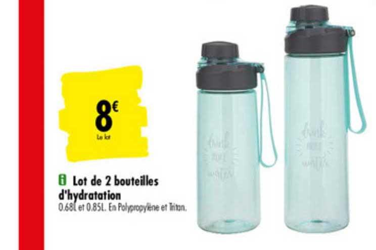 Moderne Offre Lot De 2 Bouteilles D'hydratation chez Carrefour Market RN-59