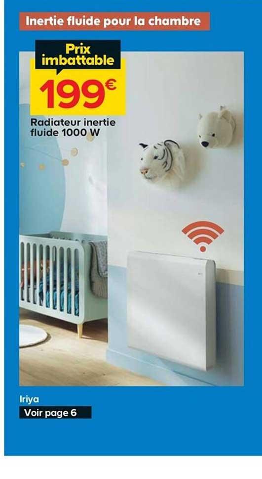 Castorama Radiateur Inertie Fluide 1000w