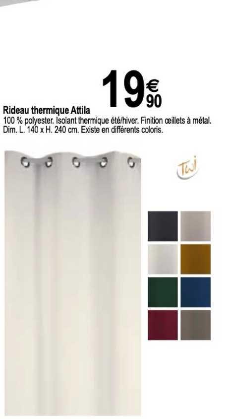 Tridôme Rideau Thermique Attila