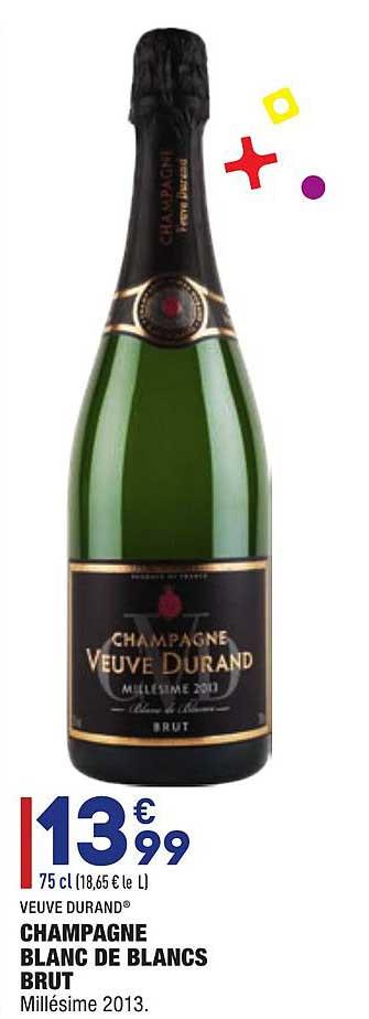 Aldi Veuve Durand Champagne Blanc De Blancs Brut Millésime 2013