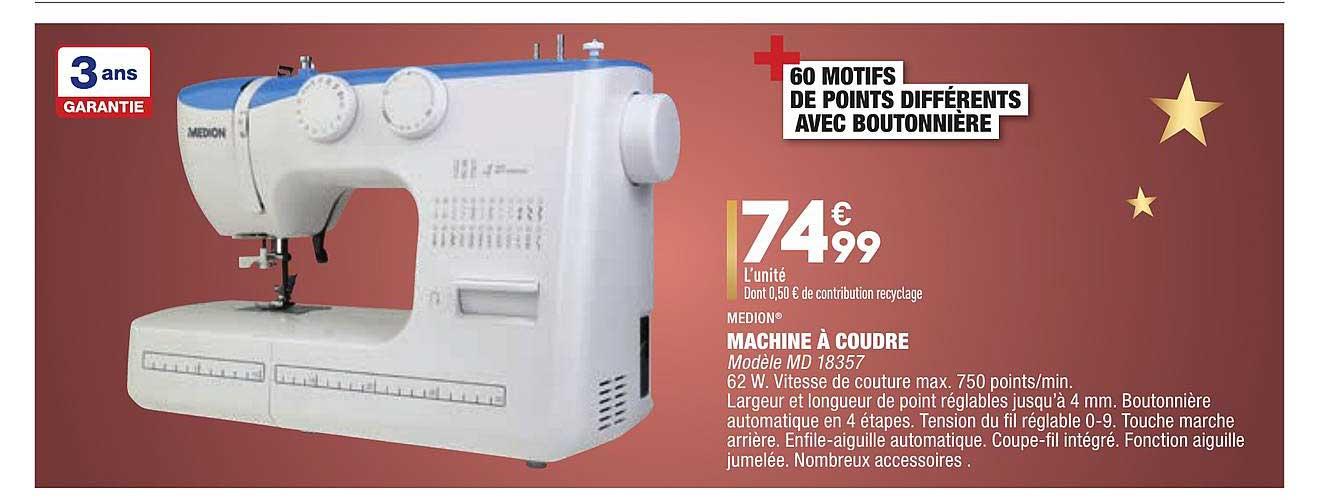 Aldi Machine à Coudre Medion
