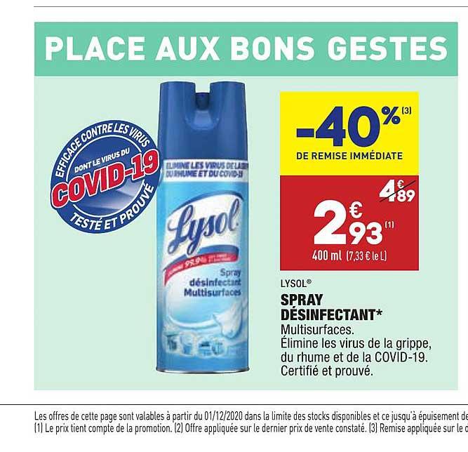 Aldi Spray Désinfectant Lysol -40% De Remise Immédiate