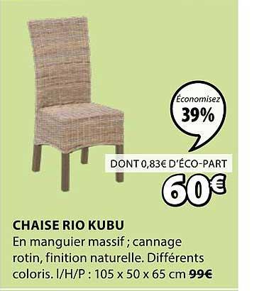 JYSK Chaise Rio Kubu