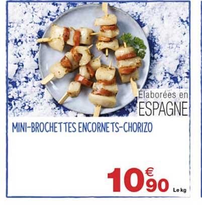 Grand Frais Mini-brochettes Encornets-chorizo