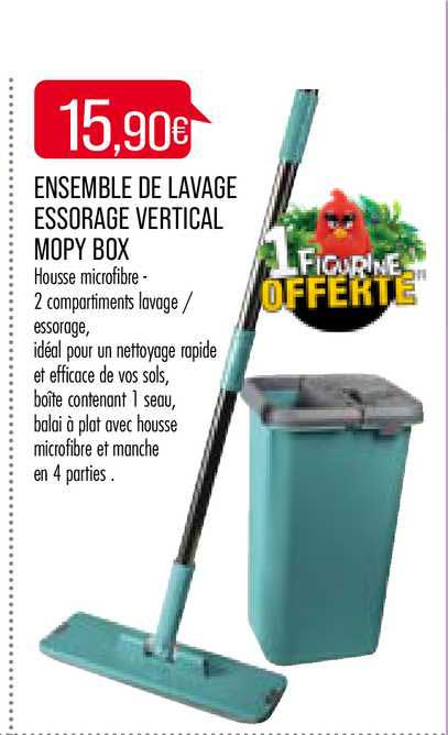 Match Ensemble De Lavage Essorage Vertical Mopy Box