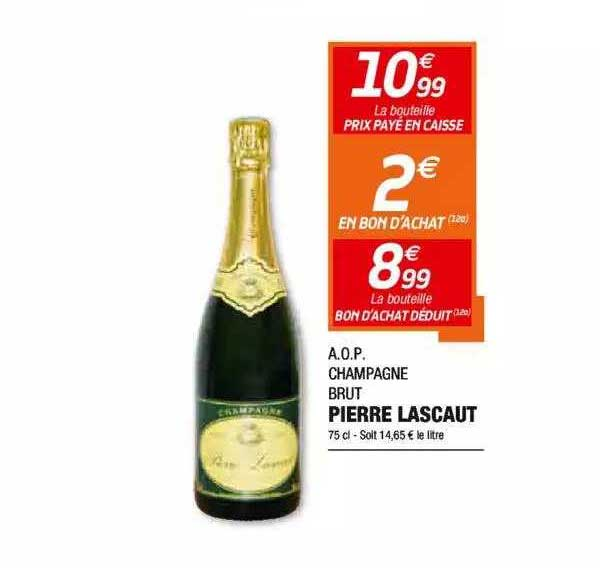 Netto A.o.p. Champagne Brut Pierre Lascaut