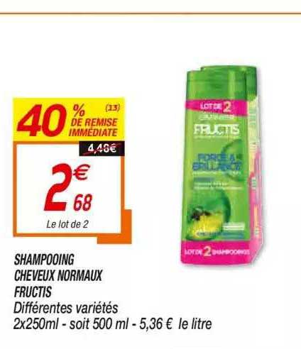 Netto Shampooing Cheveux Normaux Fructis