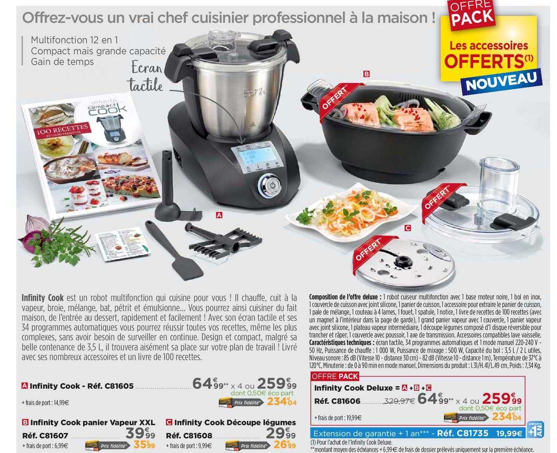 Teleshopping Infinity Cook Panier Vapeur, Infinity Cook Découpe Légumes, Infinity Cook Deluxe