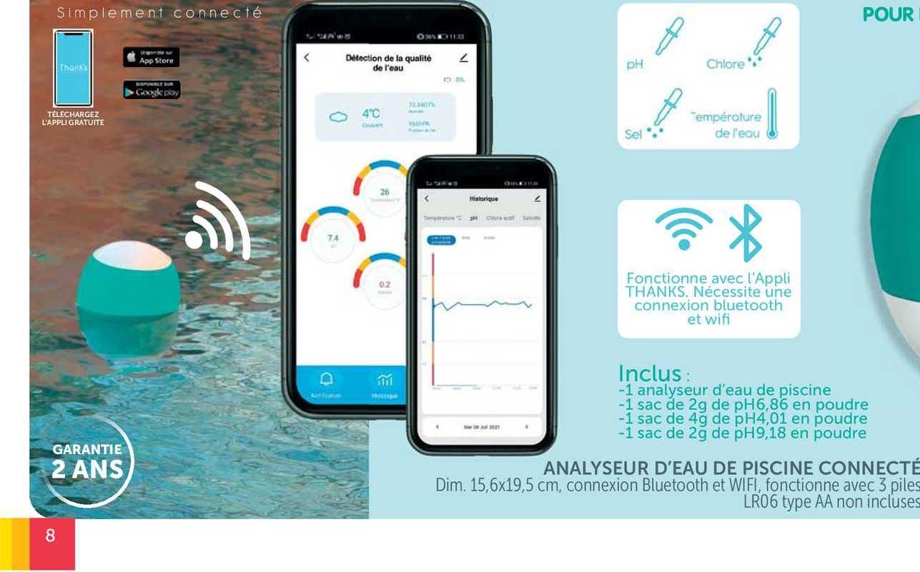 GiFi Analyseur D'eau De Piscine Connecté