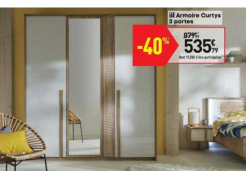 Offre Armoire Curtys 3 Portes Chez Conforama