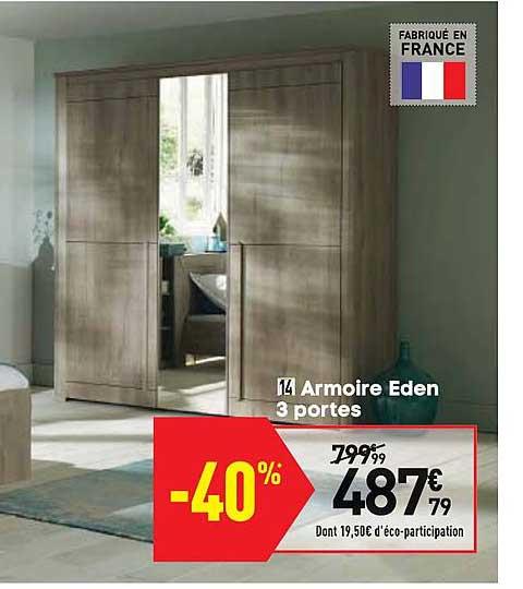 Offre Armoire Eden 3 Portes Chez Conforama