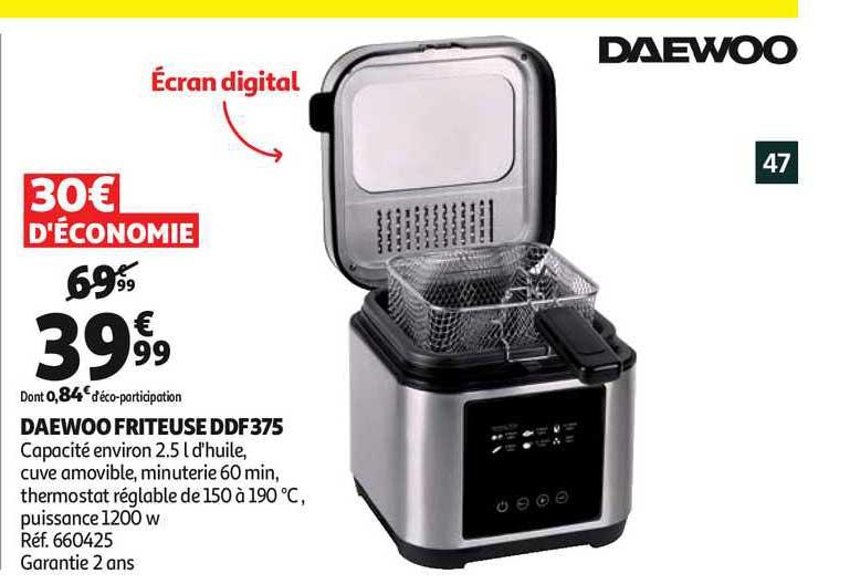 Auchan Daewoo Friteuse Ddf375