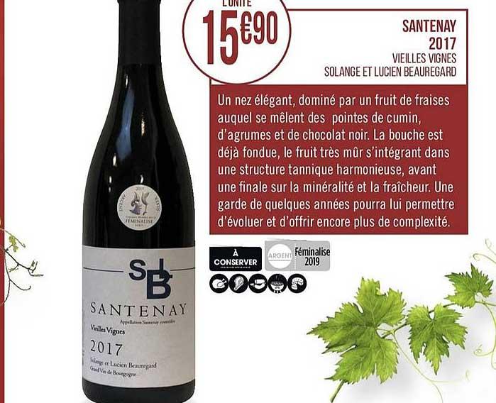 Casino Supermarchés Santenay 2017 Vieilles Vignes Solange Et Lucien Beauregard