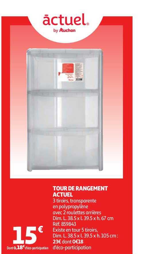 Auchan Tour De Rangement Actuel