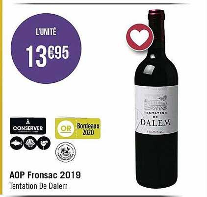 Casino Supermarchés Aop Fronsac 2019 Tentation De Dalem