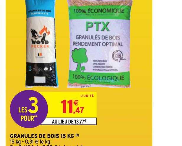 Intermarché Hyper Granules De Bois 15 Kg
