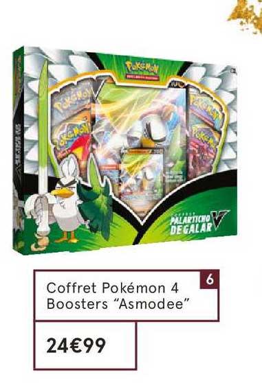 Monoprix Coffret Pokémon 4 Boosters Asmoodee
