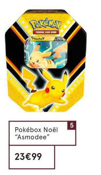 Monoprix Pokébox Noël Asmodee