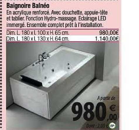 Tridôme Baignoire Balnéo