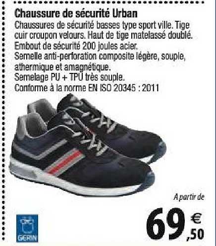 Tridôme Chaussure De Sécurité Urban