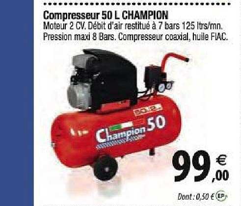 Tridôme Compresseur 50 L Champion