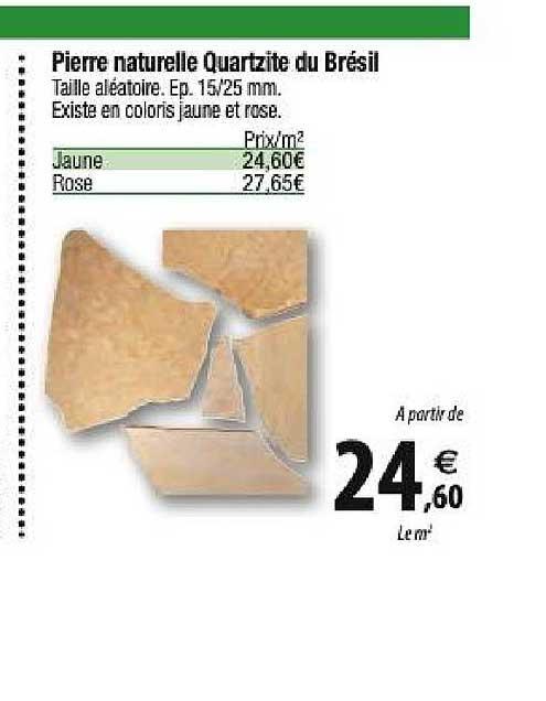 Offre Pierre Naturelle Quartzite Du Bresil Chez Tridome
