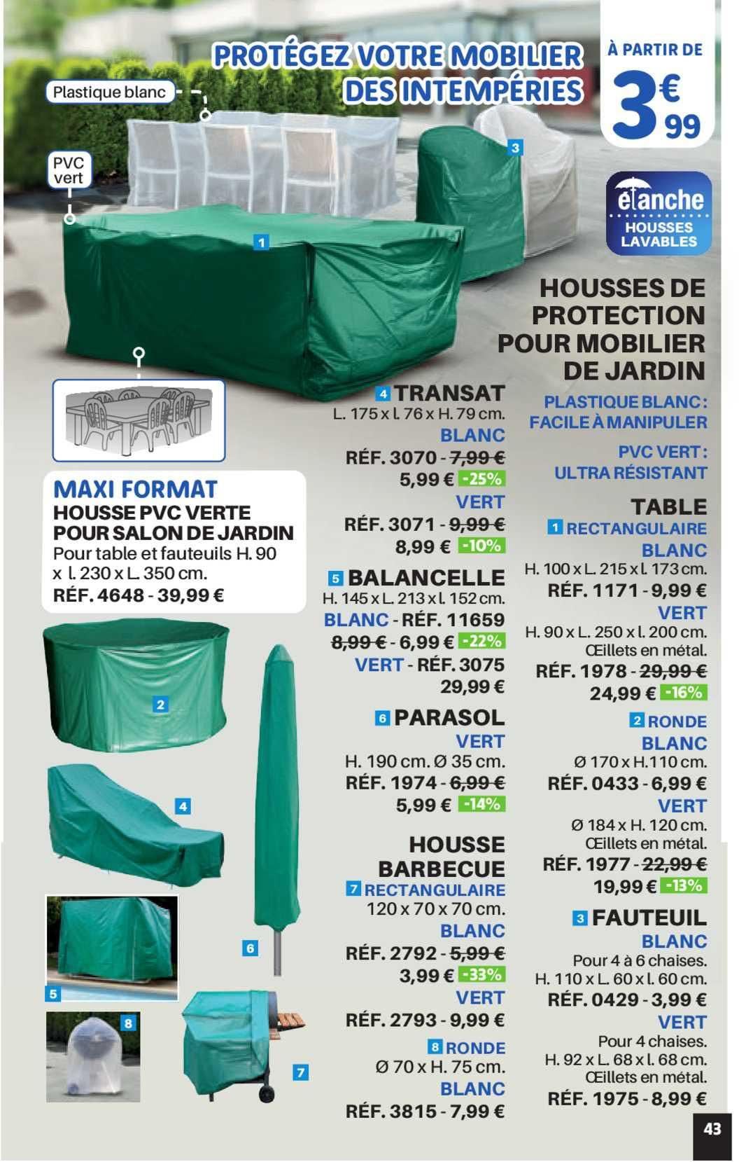 Shopix Housses De Protection Pour Mobilier De Jardin